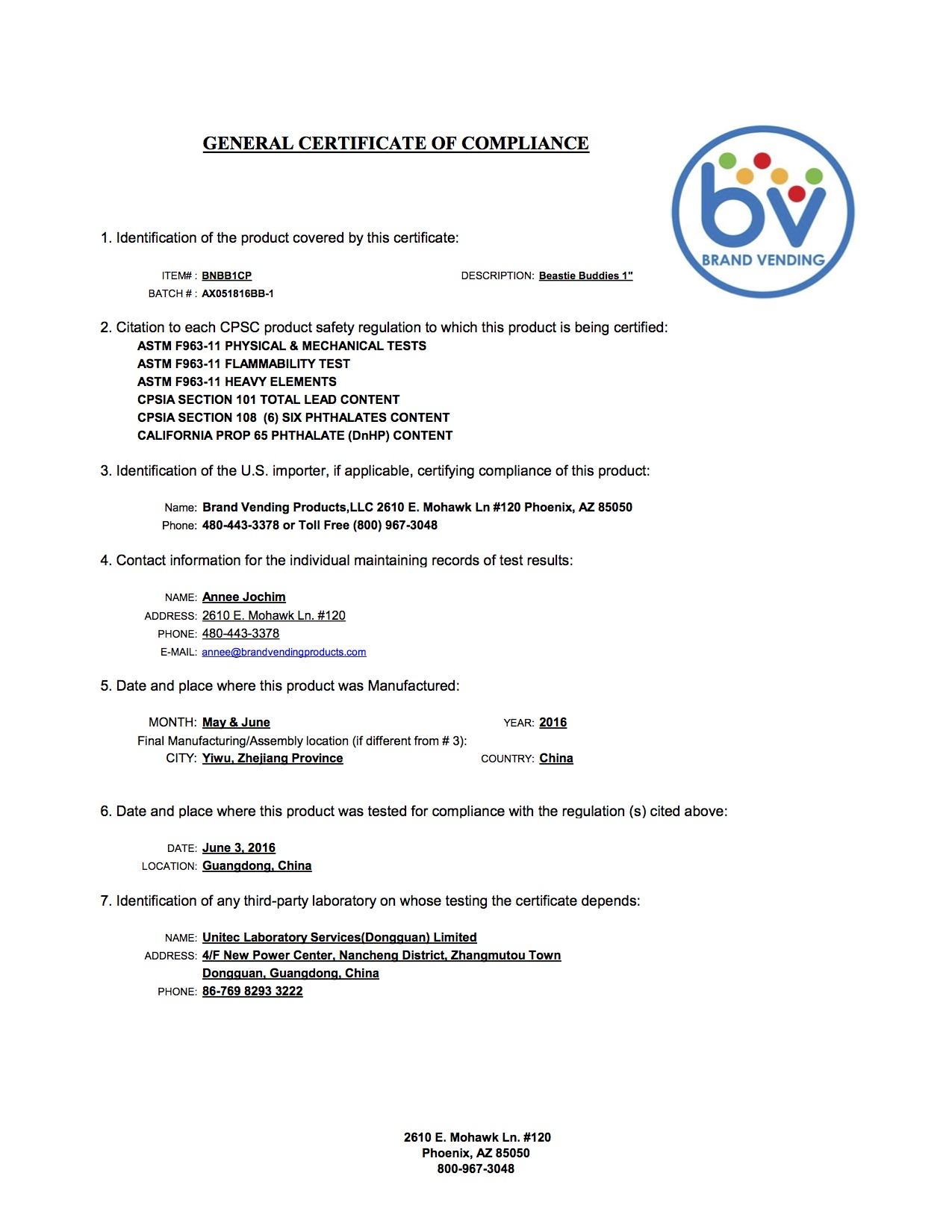 Beastie Buddies AX051816BB-1